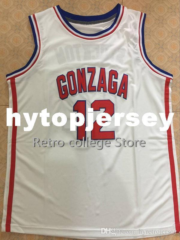 12 John Stockton GONZAGA BULLDOGS College Basketball Jerseys Mens 100% Double Stitched Top Quality XS-6XL vest Jerseys NCAA