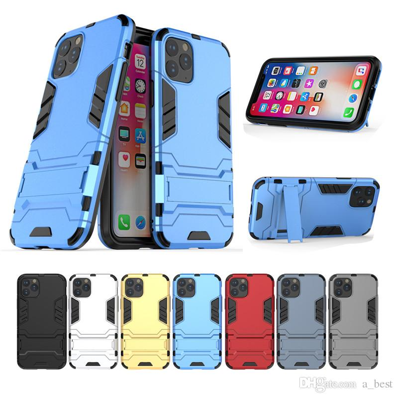 iron Man Phone Case For iPhone 11 Pro Max XS XR 8 7 Plus Armor Shockproof Phone Cover With Holder Samsung S10 5G