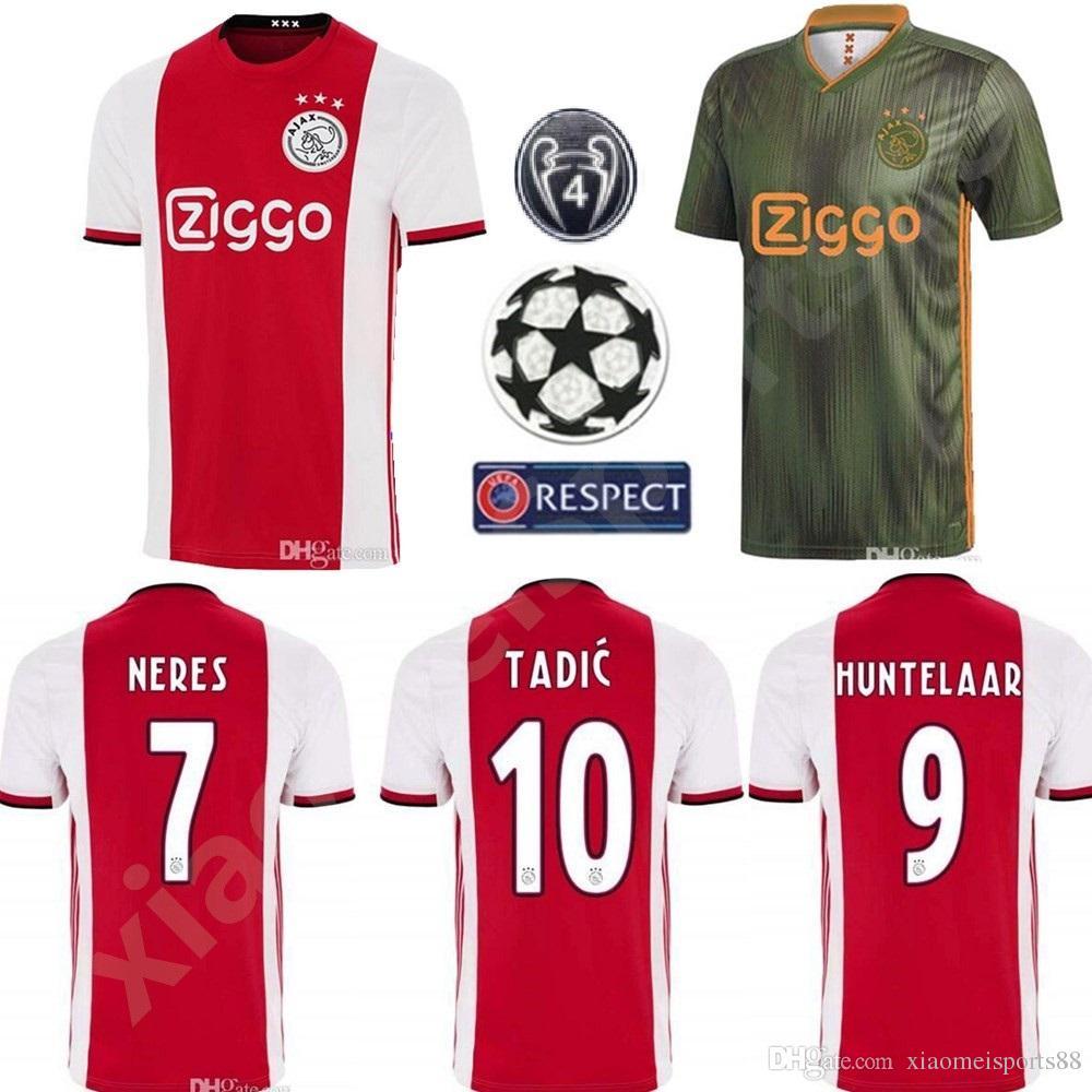nueva estilos c13da 7b24c 2019 2020 ajax DE JONG TADIC home soccer jerseys 19 20 NERES ZIYECH away  football shirts Ajax jerseys Camisas De Futebol DE LIGT