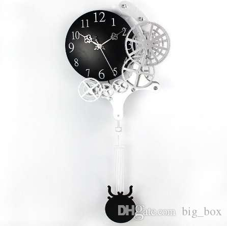 Hot High-quality Gear Wall Clock Dynamic Mechanical Appearance of Fashion  Home Decorations Pendulum Clock Design Clock