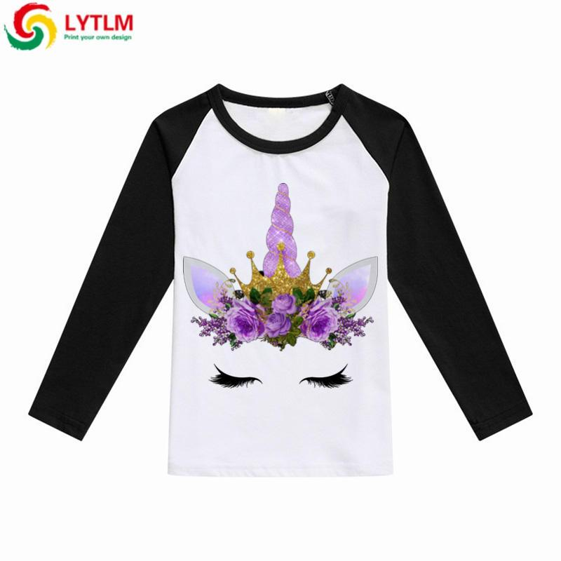38f4176b 2019 Wholesale T Shirts For Girls Unicorn Costume Girls Emoji T