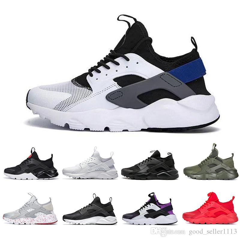 innovative design 09338 66d92 Wiit Box Air Huarache 1.0 SUP 4.0 Mens Running Shoes Triple Black White Red  Fashion Huaraches Mens Trainers Women Sports Sneakers Mens Running Shoes  Walking ...