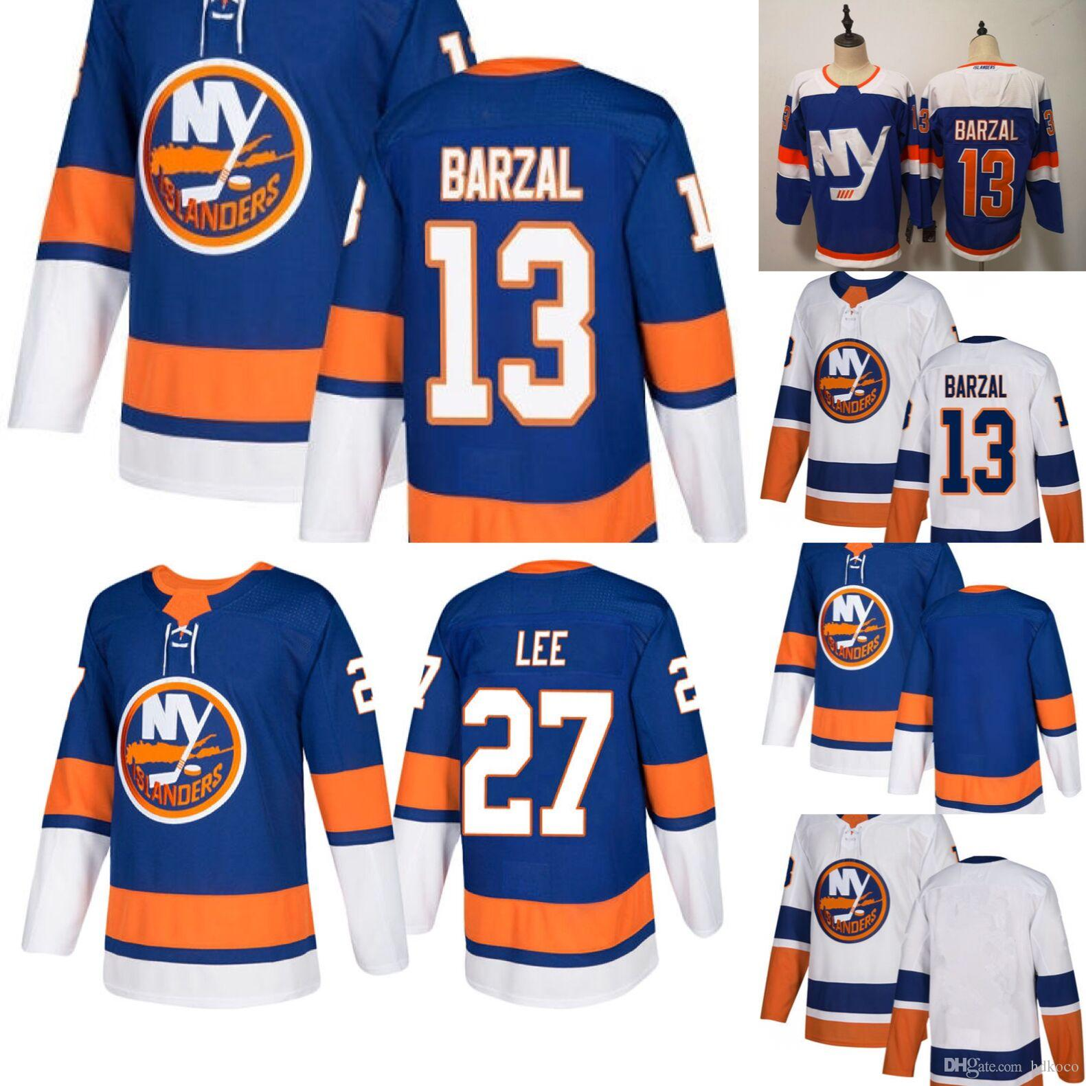 2019 2019 New York Islanders Alternate Third Blue 13 Mathew Barzal Jersey  27 Anders Lee Denis Potvin Hockey White Stitched Men From Hdkoco cce1152ee