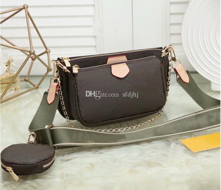 디자이너 럭셔리 핸드백 지갑 여성 좋아하는 미니 Pochette 액세서리 크로스 바디 가방 Vintag 어깨 가방 가죽 핑크 컬러 스트랩