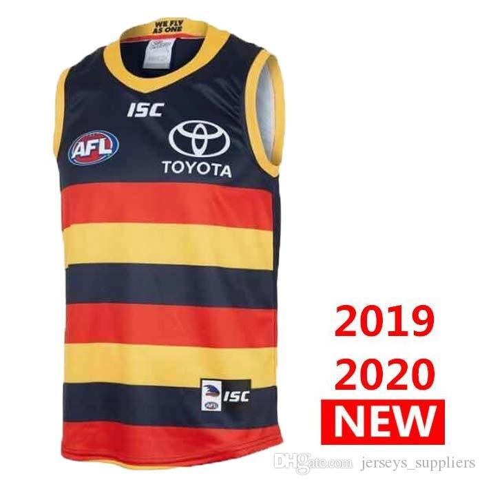 free shipping new 2019 Adelaide Crows HOME Rugby Jerseys AFL Adelaide Crows jersey singlet League shirt vest s-3xl