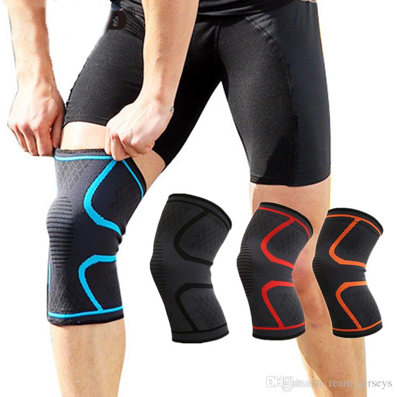 99d36f65e9 2019 Fitness Running Cycling Knee Support Braces Elastic Nylon Sport ...