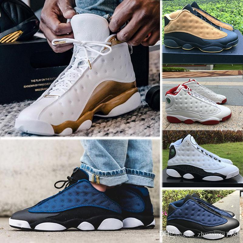 online store 32ed1 af5d0 Großhandel Nike Air Jordan 13 Retro 13 13s Mens Basketball Schuhe Phantom  Chicago GS Hyper Royal Schwarze Katze Flints Bred Brown Olive Wheat DMP  Ivory Grey ...