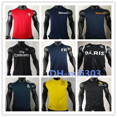 11b44af4c2be23 2019 2019 PSG MBAPPE GREZMANN 2 Stars Fr Soccer Training Vest 18 19 Real  Madrid Bayern Brazil Paris Sleeveless Messi Football Shirt Vest From  Mili303