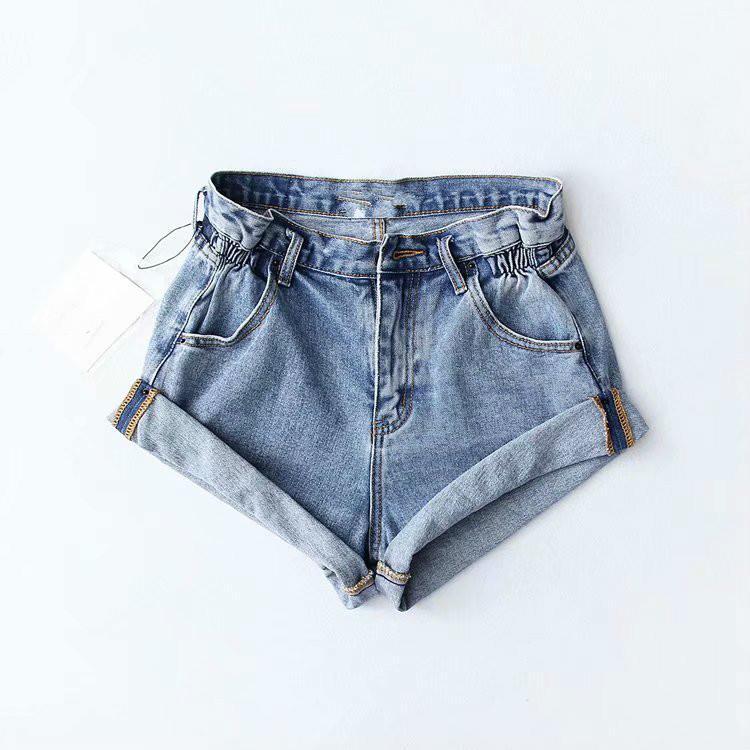 8029ad0b9bc50 Acheter Denim Shorts Femmes 2019 Mode Taille Haute D'été Short Jeans Sexy  Solide Short À Sertir Pour Femme Blanc Noir Bleu De $36.14 Du Topcoat |  DHgate.Com