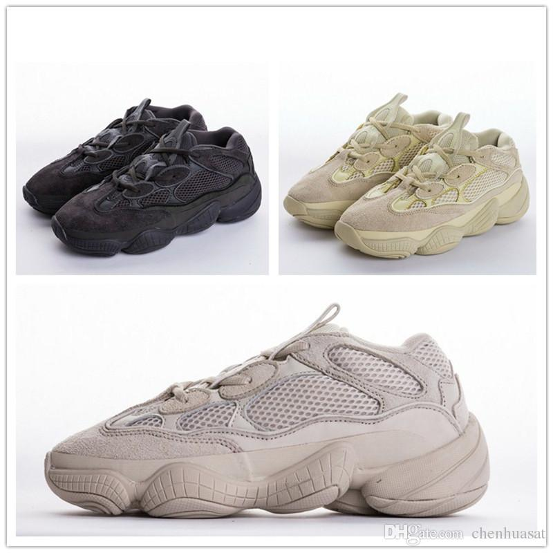 newest 1164e b6479 Kanye West 500 Top Classic Running Shoes Carmine Yellow Black Super Moon  Wave Runner 500 Leisure Shoes Fashion Designer Sports Shoes Without