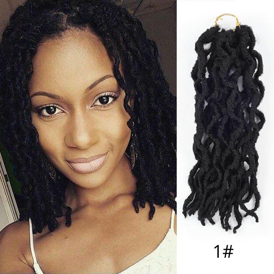 2019 1packs 12inch Wavy Faux Locs Crochet Faux Locs Hair Crochet