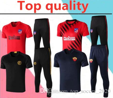 Top quality 2019-2020 PSG MBAPPE Atletico short sleeve POLO adult tracksuit 19-20 Inter ICARDI ROME ROSSI men POLO shirt soccer tracksuit