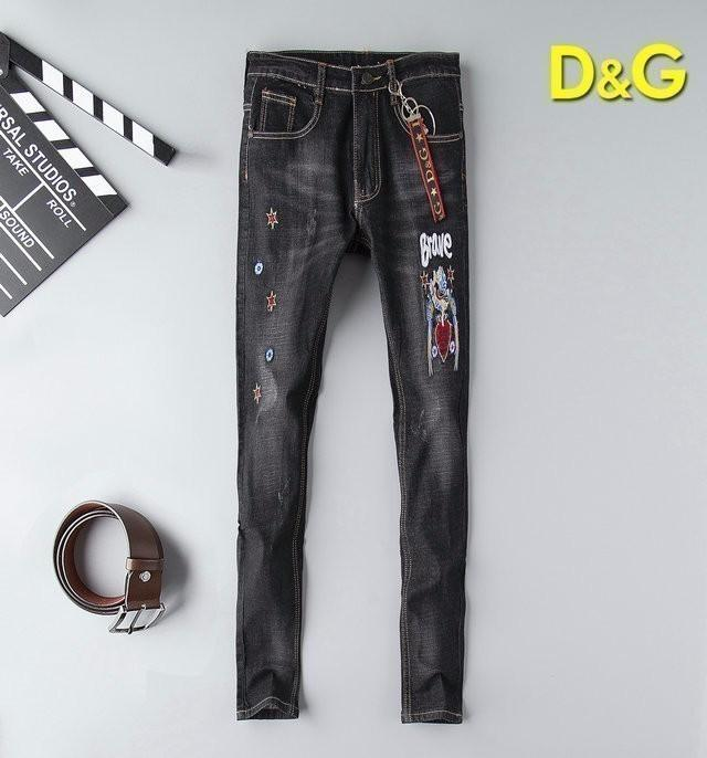 Personalized Embroidered Stretch Jeans Men's 19 Autumn Fashion Europe and America New Men's Youth Jeans 702 56883041