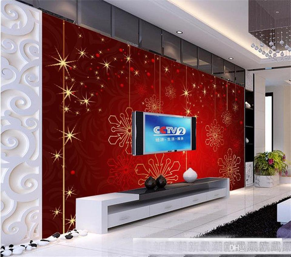 custom size 3d photo wallpaper living room bed room mural Festive Christmas European style picture sofa backdrop wallpaper non-woven sticker