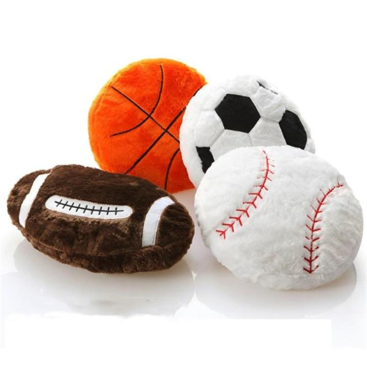 Simulation Spherical Basketball Football Baseball Pillow Sofa Cushion Nap To Send Boyfriend Birthday Fans Gifts T8I085 Large Patio Cushions Porch