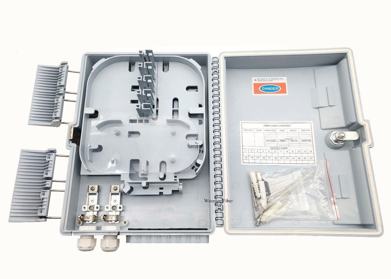 FDB FTTH 16 Fiber Access Terminal Box 16 Cores Fiber Optic Distribution Box  Gray
