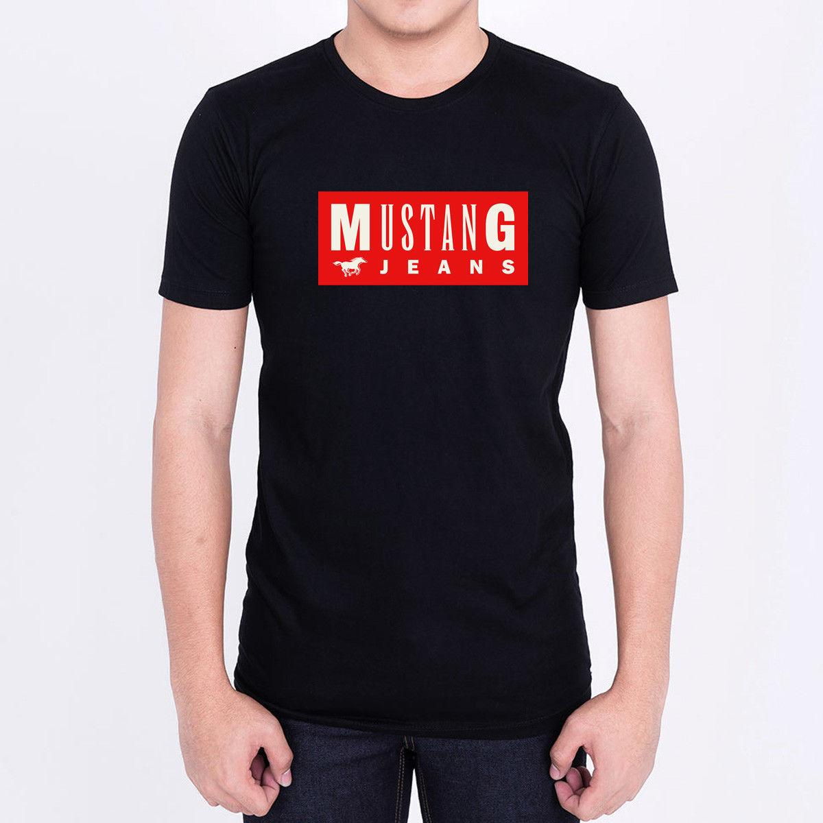 MUSTANG JEANS LOGO FAMOUS BRAND FASHION Men Black T Shirt 100% Cotton  Graphic Online Funky T Shirts Buy T Shirt Design From Boystshirts55 1b71d3ef01