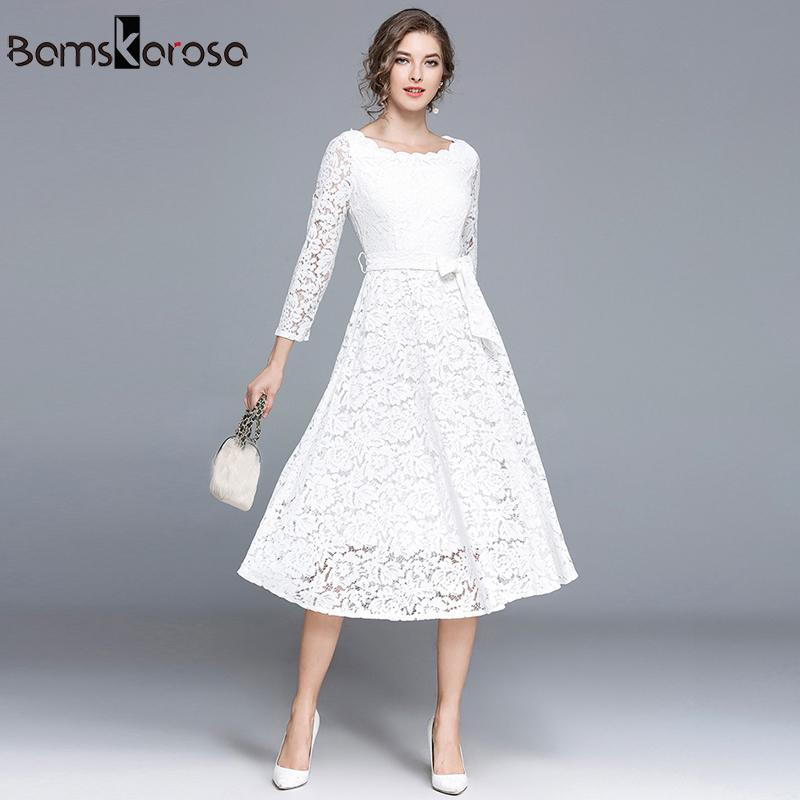 9632da452e 2019 Vintage Dress Women Elegant White Lace Dress Black Evening Party  Dresses Female Vestido De Noite Vestido De Noche Long Dresses Y19012201  From Shenyan01 ...