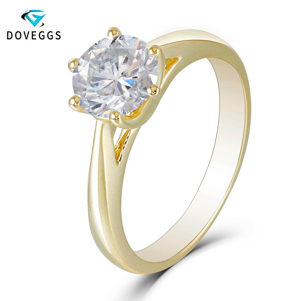 034815e6b0030 DovEggs 1ctw 5mm F G Color Lab Grown Moissanite Diamond Hoop