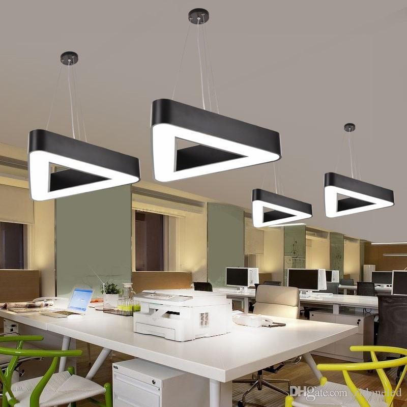 Modern Metal Tri Led Pendant Light Minimalism White Black Pendant Fixtures Luminaria Lampares Led Hanging Light Suspension Lamp