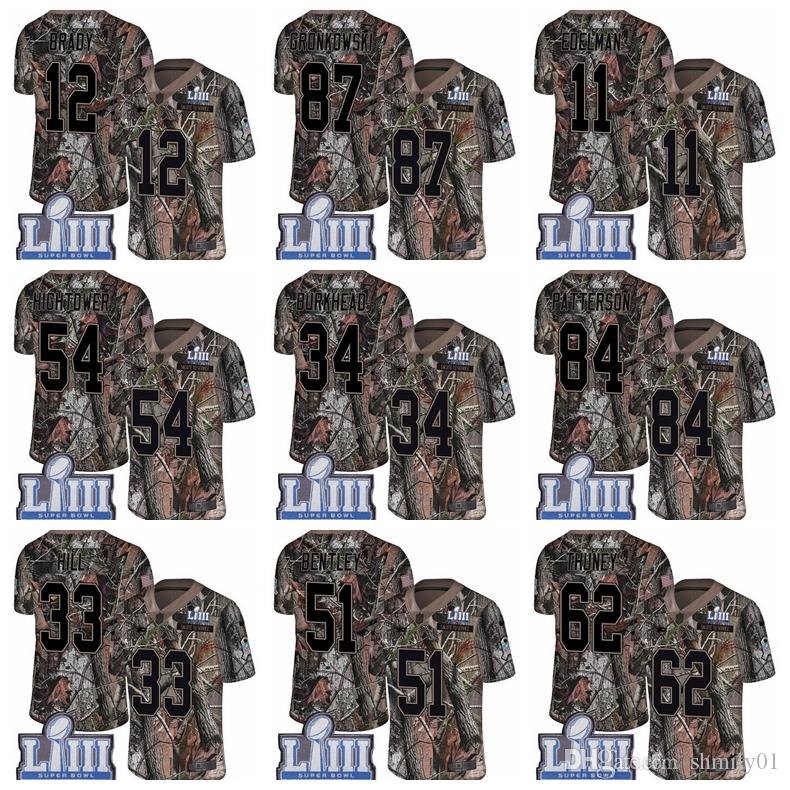 Men S 87 Rob Gronkowski 12 Tom Brady Limited Jersey New Englandg Patriots  Camo Super Bowl LIII Bound Rush Realtree Football Jersey Best Tuxedos Black  Tie ... f74dfb9d6