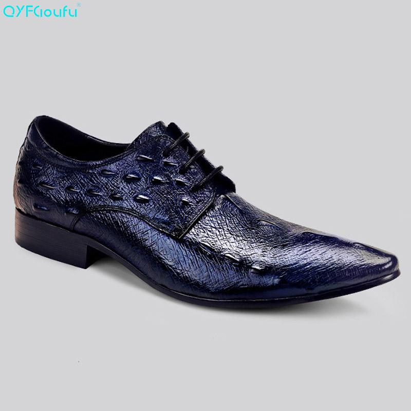 Shoes Formal Shoes Cheap Sale Mens Genuine Leather Pointed Toe Buckle Leather Shoes Crocodile Print Oxfords Business Man Wedding Shoes Formal Dress Shoes
