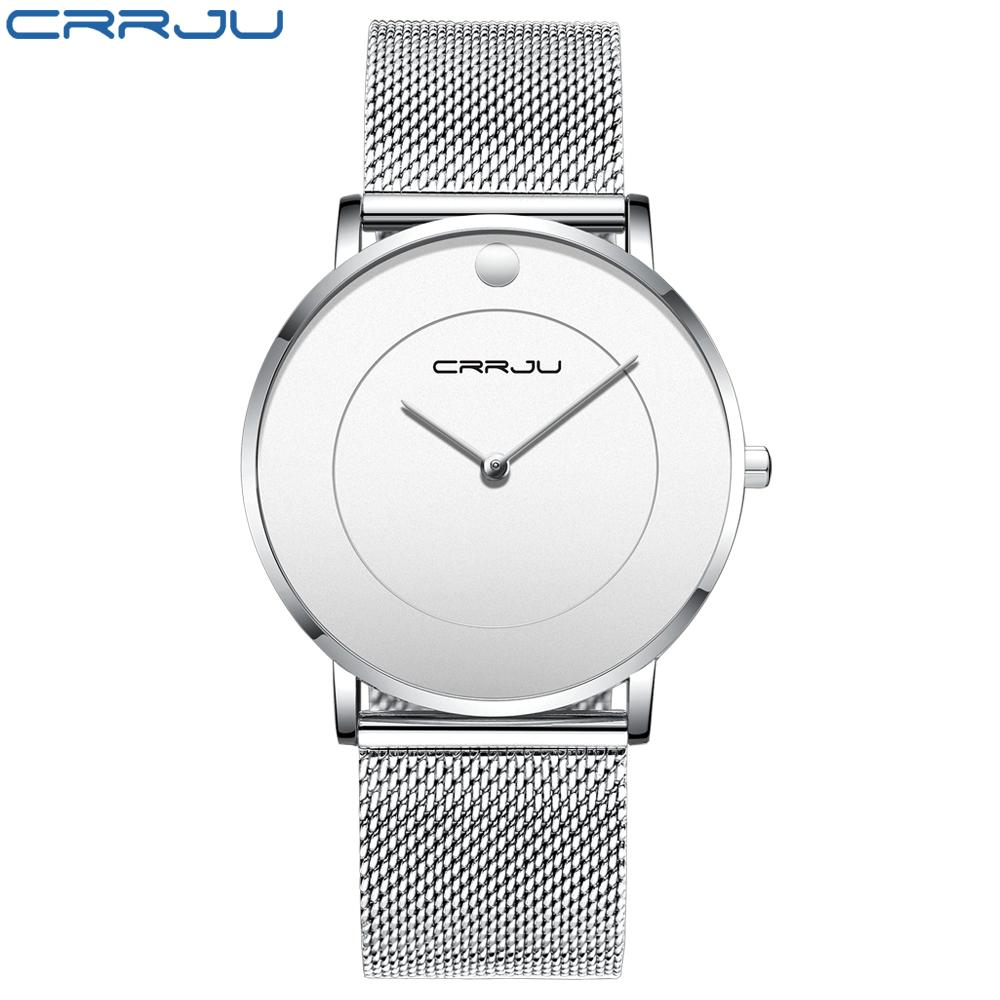 900a94a2306 Men Watches CRRJU Top Brand Luxury Stainless Steel Ultra Thin Watch ...