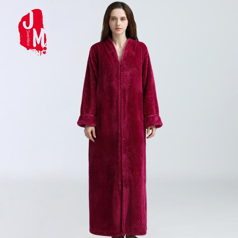 Winter Warm Flannel Bathrobe Women Fleece Bath Robe Soft ThickBridesmaid Robes Female Dressing Gown Wedding Sleepwear L XL XXL