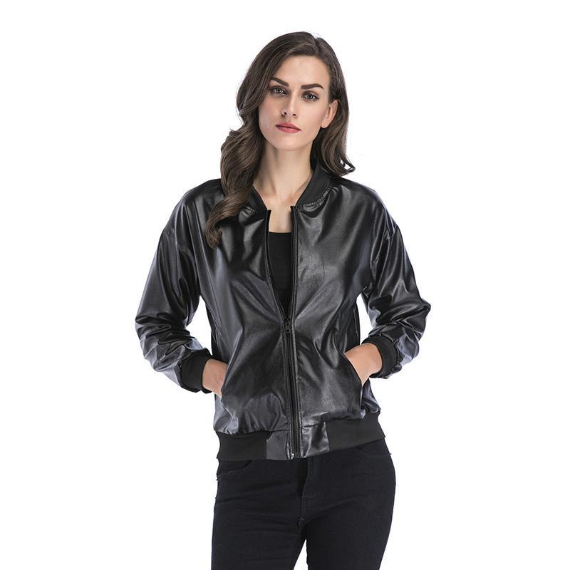 best authentic 59e6b 3da5e Giacca in pelle Donna Giacche Cappotto Slim Biker Moto Soft Zipper ragazza  Pelle femminile abbigliamento femminile