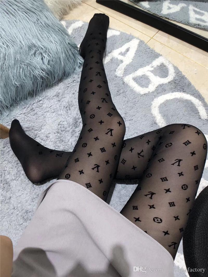 4891fcf7613 Fashion Ladies Black Stockings Sports Hosiery Tube Socks Girls Pantyhose  Luxury Casual Stockings Woman Cosy Long Socks With Box Popular Sock Brands  Cool ...