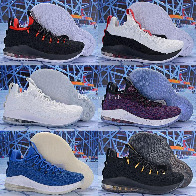 100% authentic 8dbb2 0f96d Hot Sale Lebron James XV 15 Low Star Wolf Grey Pink Home Mens Kids  Basketball shoes Sports Top quality Cheap 15s Zapatilla Sneakers