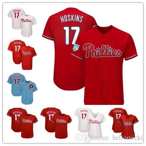65af34645 2019 Men S Philadelphia  17 Rhys Hoskins Phillies 100% Stitched Jerseys  VINTAGE Baseball Jersey Scarlet 2019 Spring Training High Quality From  Hellomicki