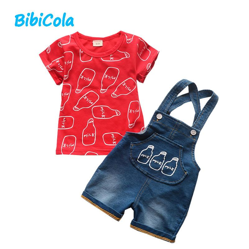 f3daacad7 Good Qulaity Baby Boys Clothing Sets Infant Clothes Boys Top+bib ...