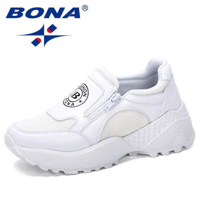 03b4bf2333d2 BONA 2019 New Designer Korean Platform Sneakers Women Shoes Zipper Ladies  Shoes Outdoor Woman Tenis Feminino Casual Basket Femme