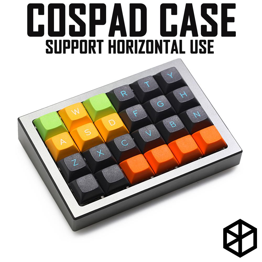 Anodized Aluminium case for cospad xd24 custom keyboard acrylic panels  diffuser can support horizontal use