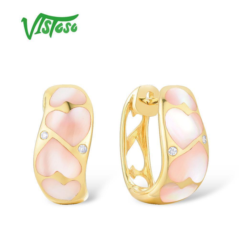 f21340ac1a74 Compre Vistoso Pendientes De Oro Para Mujeres Puro 14k 585 Oro ...