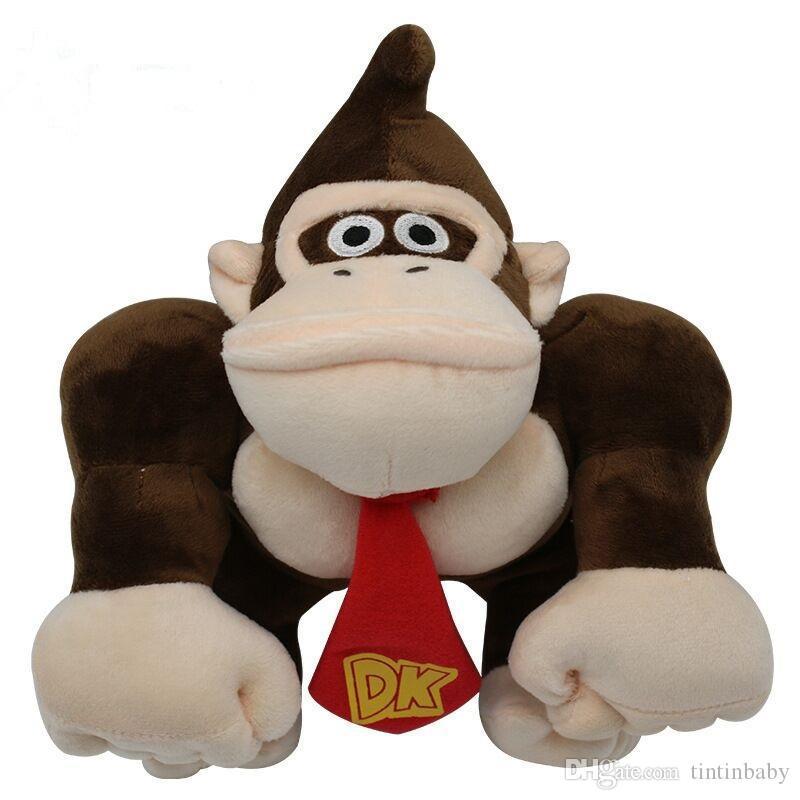 Super Mario En Peluche Jouets Orangutan Enfants Peluches Doux Kawaii Jouet Dessin Animé Jeu Poupées Jouets Pour Enfants 30 Cm