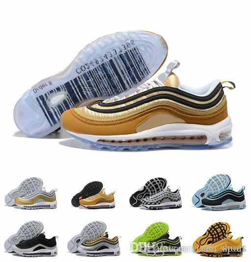 Air Cushion 97 Releasing with a Barcode Running Shoes Classic Grey ... ebcf223f9