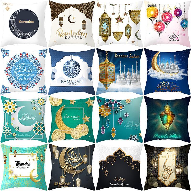 Supply 45x45cm Muslim Ramadan Decoration For Home Cotton Seat Sofa Cushion Cover Classic Lantern Throw Pillow Cover Eid Mubarak Decor Home & Garden Home Textile