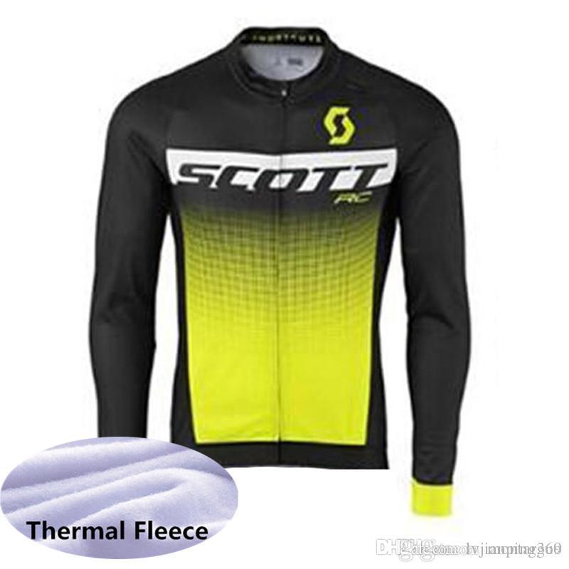 fab015dcb Scott Autumn Or Winter Fleece 2019 Men Team Cycling Jerseys Bike Bicycle  Long Sleeves Mountaion MTB Cycling Jersey Clothing Shirts 2004L Cool Cycling  ...