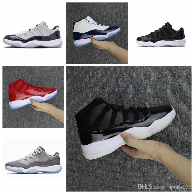 Concord High 45 11s Platinum Tint Cap and Gown Uomo Scarpe da basket Palestra Red Bared Barons Space Jams 11 sneaker sportive da uomo sneakers firmate