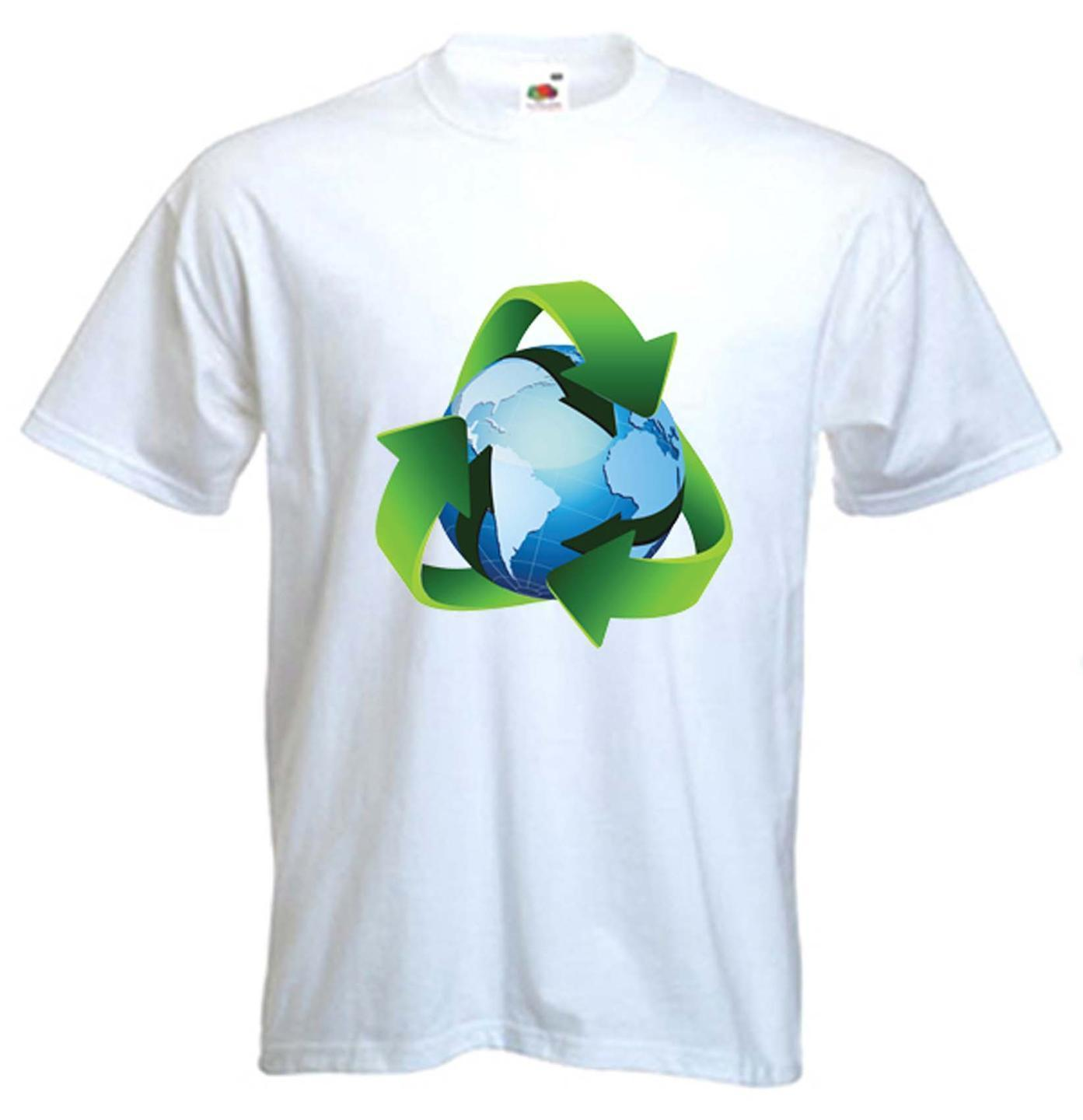 RECYCLE SYMBOL T-SHIRT - Recycling Green Earth Sign Environment - Size S to  XXXL