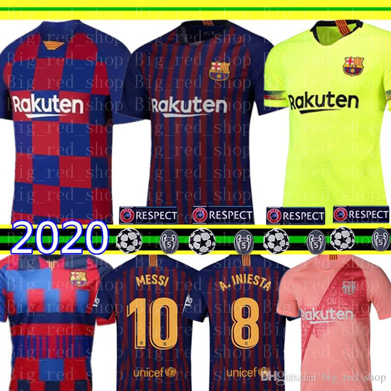 new arrival 3d5af e6fcf 2019-2020 Barcelona MESSI Soccer Jerseys Suárez A.INIESTA DEMBELE COUTINHO  Soccer Shirts Barcelona football uniforms WOMEN man Kids Kits