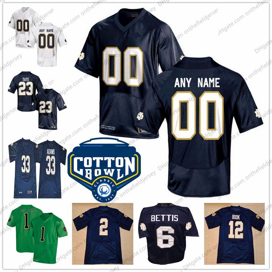 698fc14ee98 Großhandel Benutzerdefinierte Notre Dame Fighting Irish # 3 Joe Montana 12  Ian Book 23 Golden Tate Jede Name Nummer NCAA Cotton Bowl College Fußball  Trikots ...
