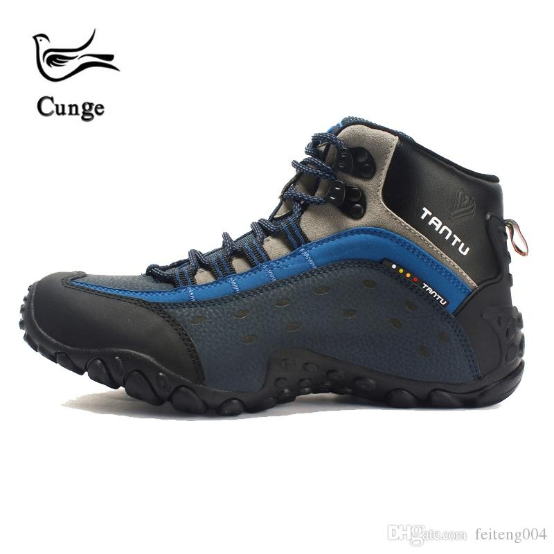 25ff1cf1415 Cunge New Outdoor Men Hiking Shoes Waterproof Climbing Sneakers Athletic  Sport Shoes Trekking Non-slip Hiking Boots Short Boot #4383