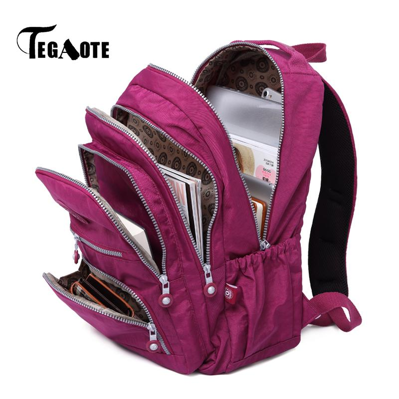 TEGAOTE Backpacks Women School Backpack For Teenage Girls Female Mochila  Feminina Mujer Laptop Bagpack Travel Bags Sac A Dos Tool Backpack Best  Laptop ... 239a9de419