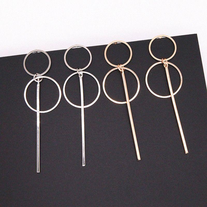 Neue Art und Weise elegante geometrische runde Kreis-Band-Ohrring-doppelte hohler Kreis Mode Ohrringe für Frauen Exquisite Geschenk E0204