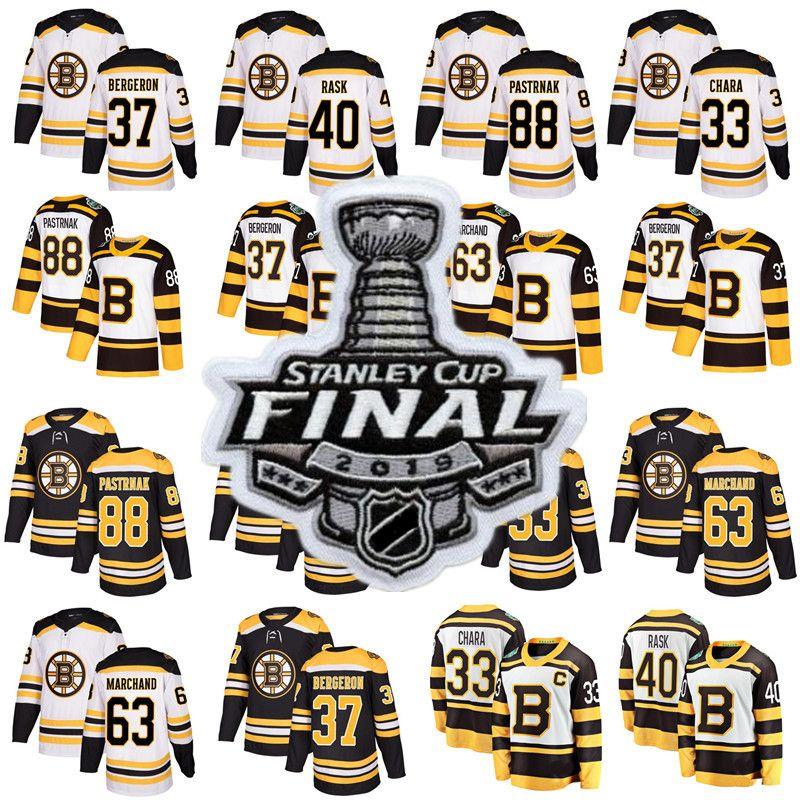 finest selection 98e85 6bcfd 2019 Stanley Cup Finals jersey Boston Bruins 37 Patrice Bergeron Tuukka  Rask David Krejci Brad Marchand 88 David Pastrnak Hockey Jerseys