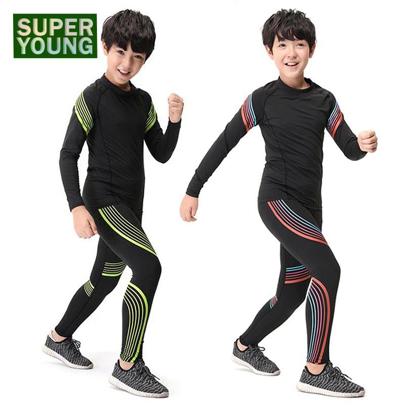 Sportbekleidung Kinder Training Jogginganzüge Männer Fitness Gym Laufen Sportbekleidung Kinder Jungen Outdoor kleidung Unterwäsche Kleidung Sets
