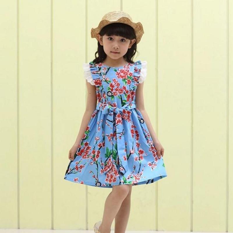 9f191f2e6 Compre Vestido De Verano 2019 Vestidos Para Niñas De 12 Años Sin Mangas  Impreso Tamaño Grande Vestido De Princesa Adolescentes Ropa Infantil A   25.81 Del ...